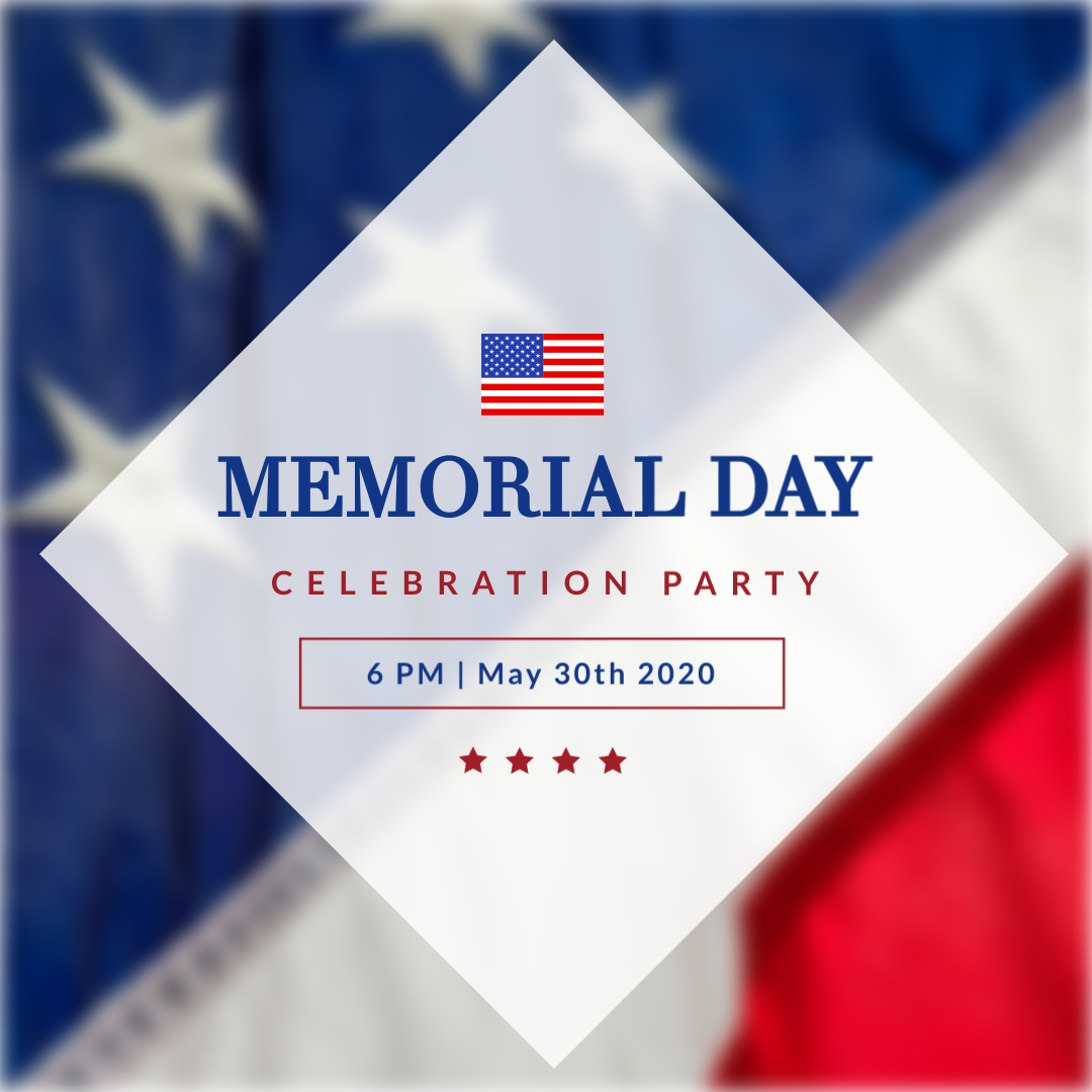 Memorial Day Party Animated Square Template