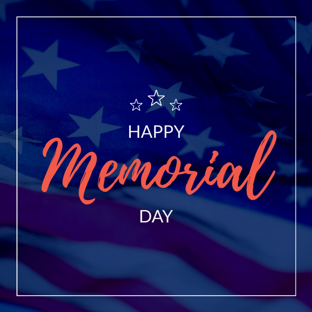 Memorial Day Stars Animated Square Template