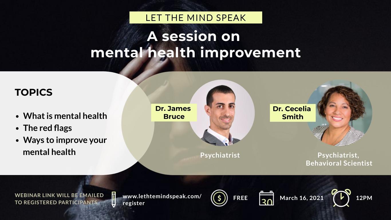 Mental Health Webinar - Facebook Event Cover Template