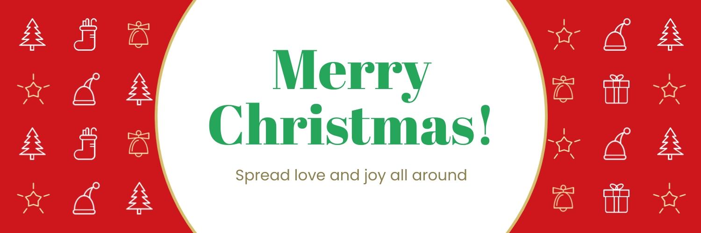 Merry Christmas Twitter Header Template
