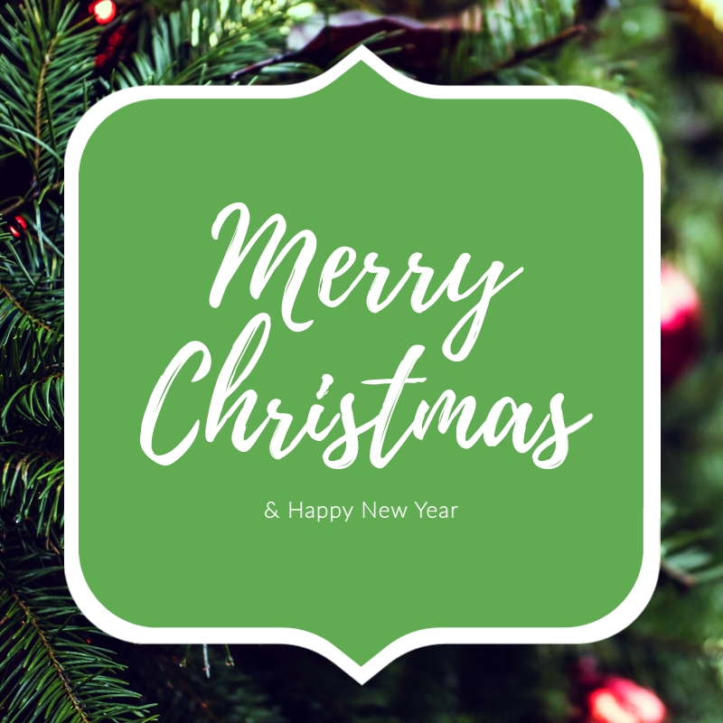 Merry Christmas and Happy New Year Blog Graphic Medium  Template
