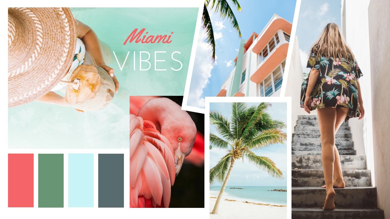 Miami Vibes Moodboard Template