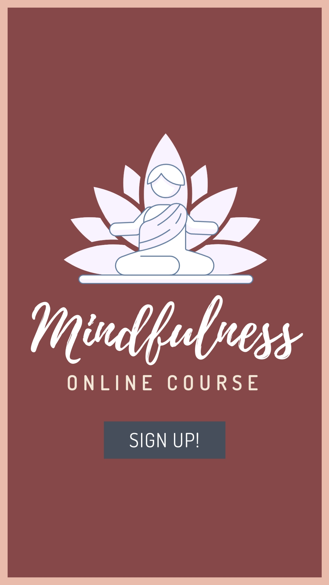 Mindfulness Online Course Vertical Template