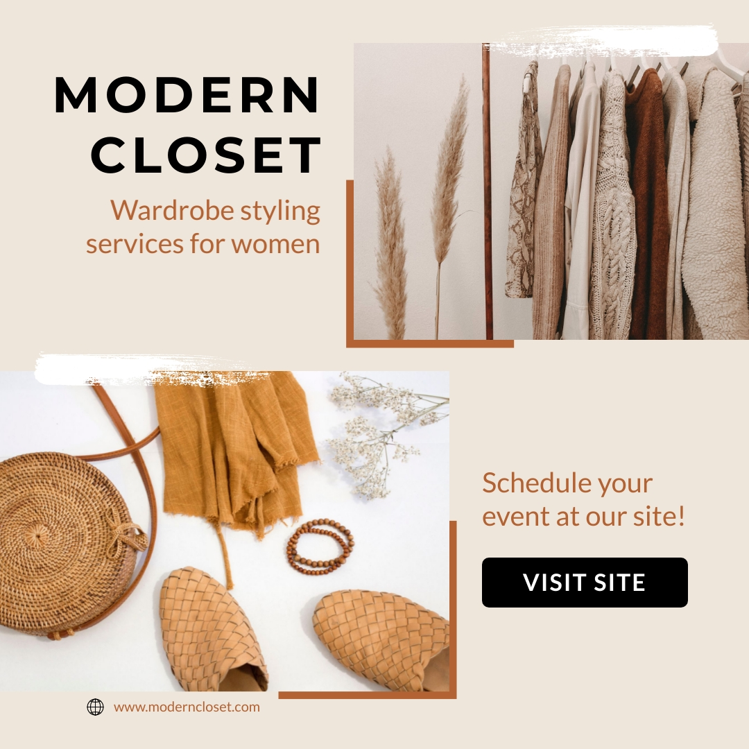 Modern Closet Styling Aimated Square Template