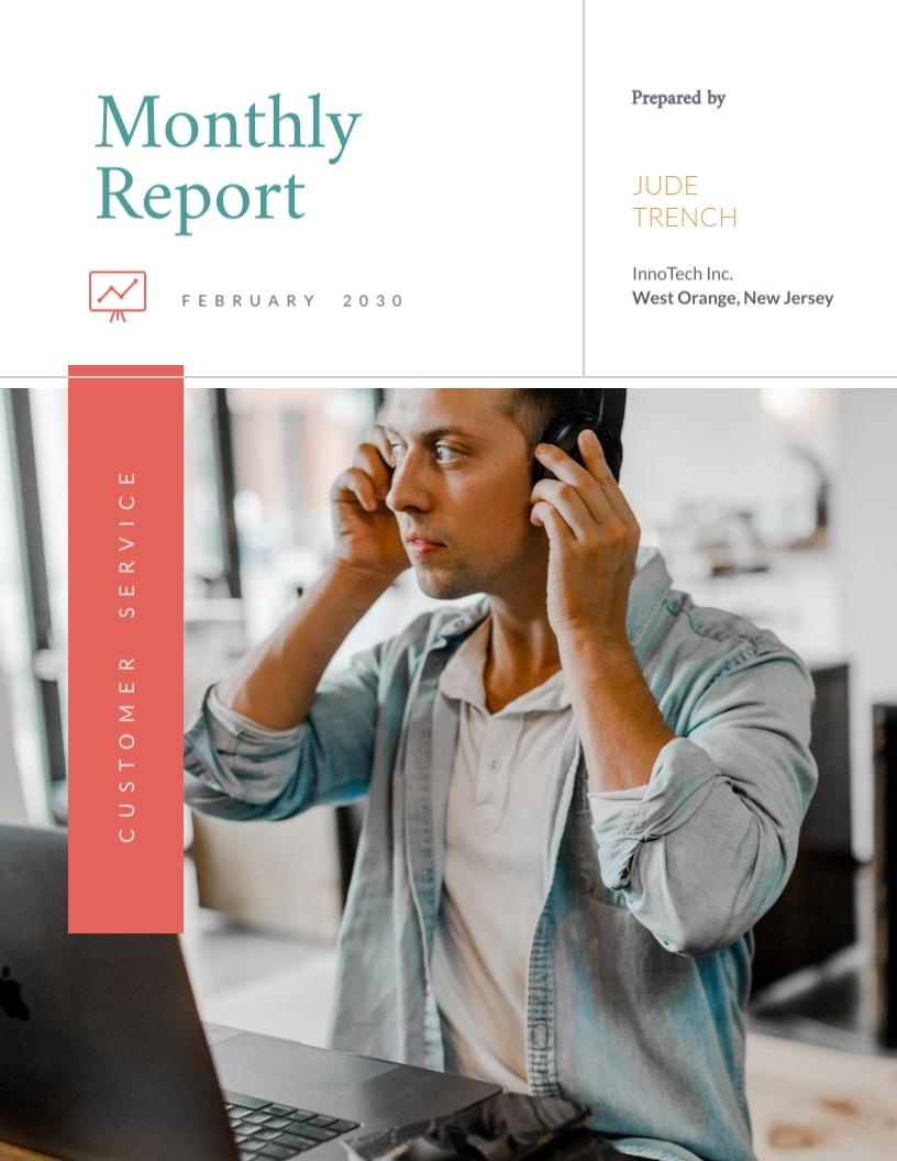 Modern Customer Service Report Template