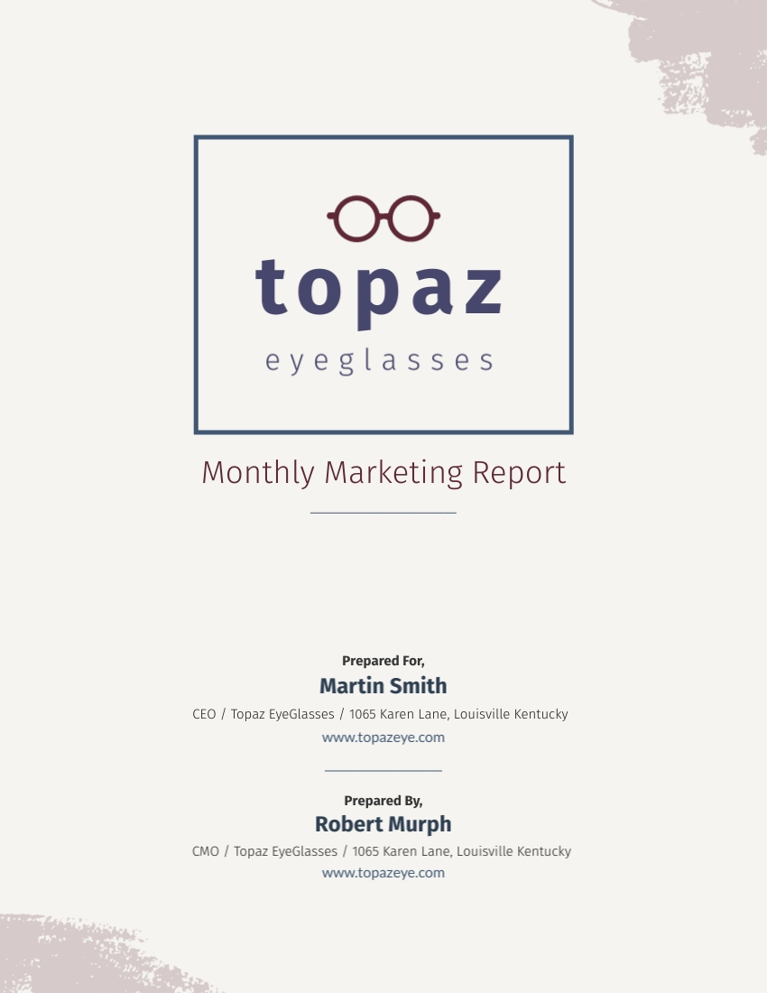 Monthly Marketing - Report Template