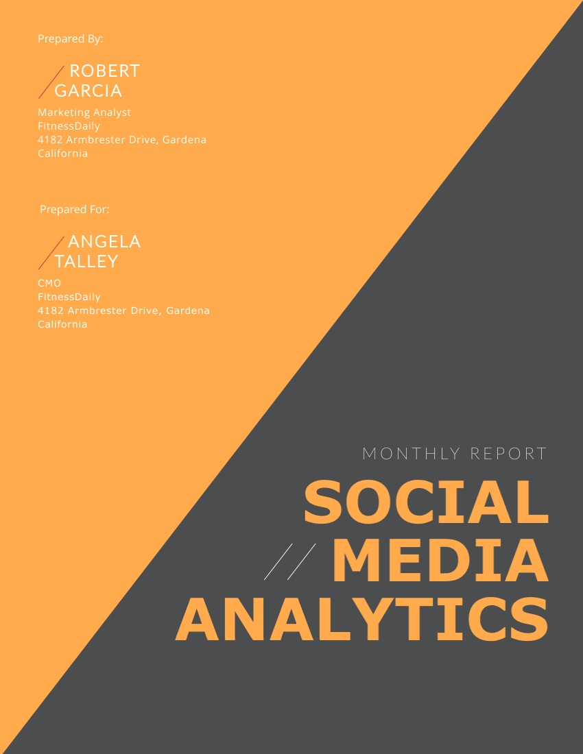 Monthly Social Media Analytics - Report Template
