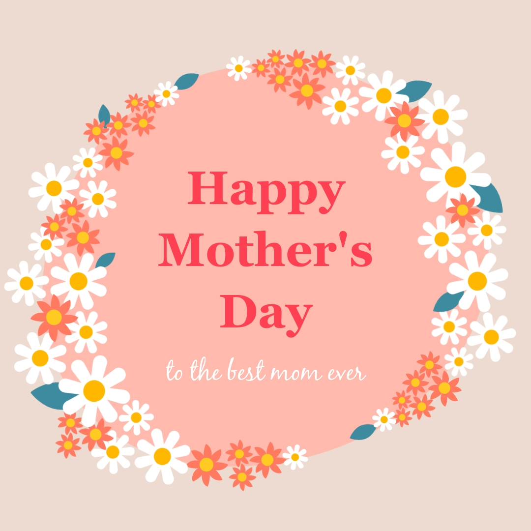 Mothers Day Flower Facebook Post Square Template