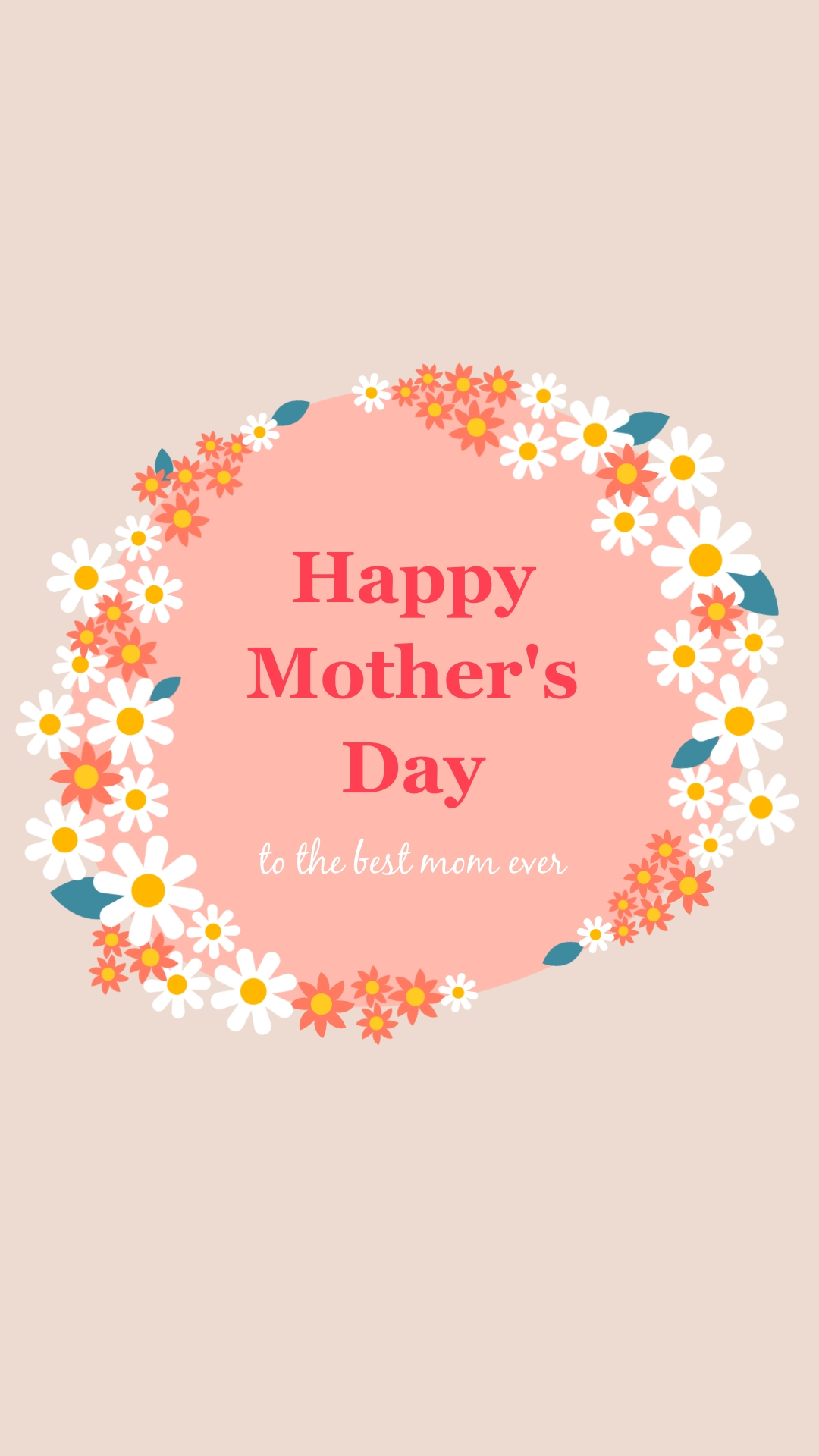 Mothers Day Flower Facebook Post Vertical Template