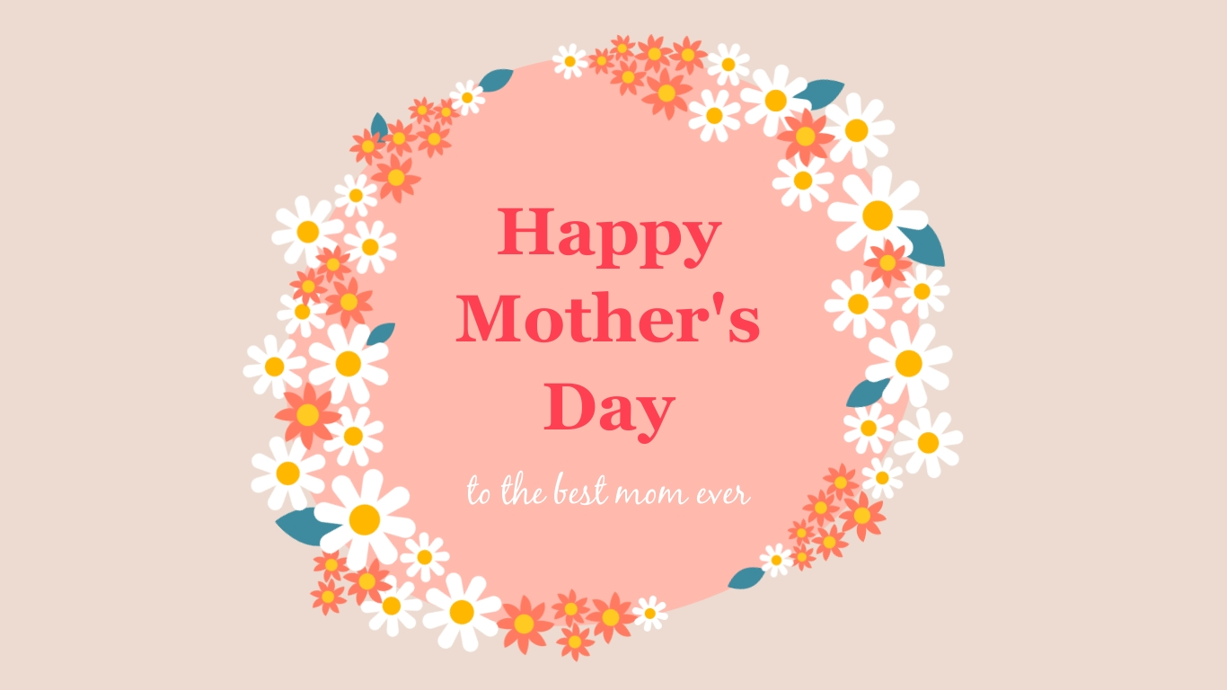 Mothers Day Flower Facebook Post Wide Template