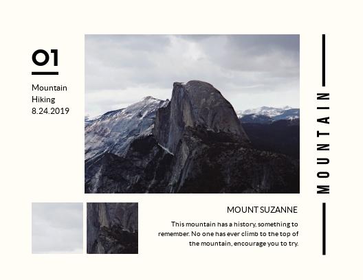 Mountain - Postcard Template