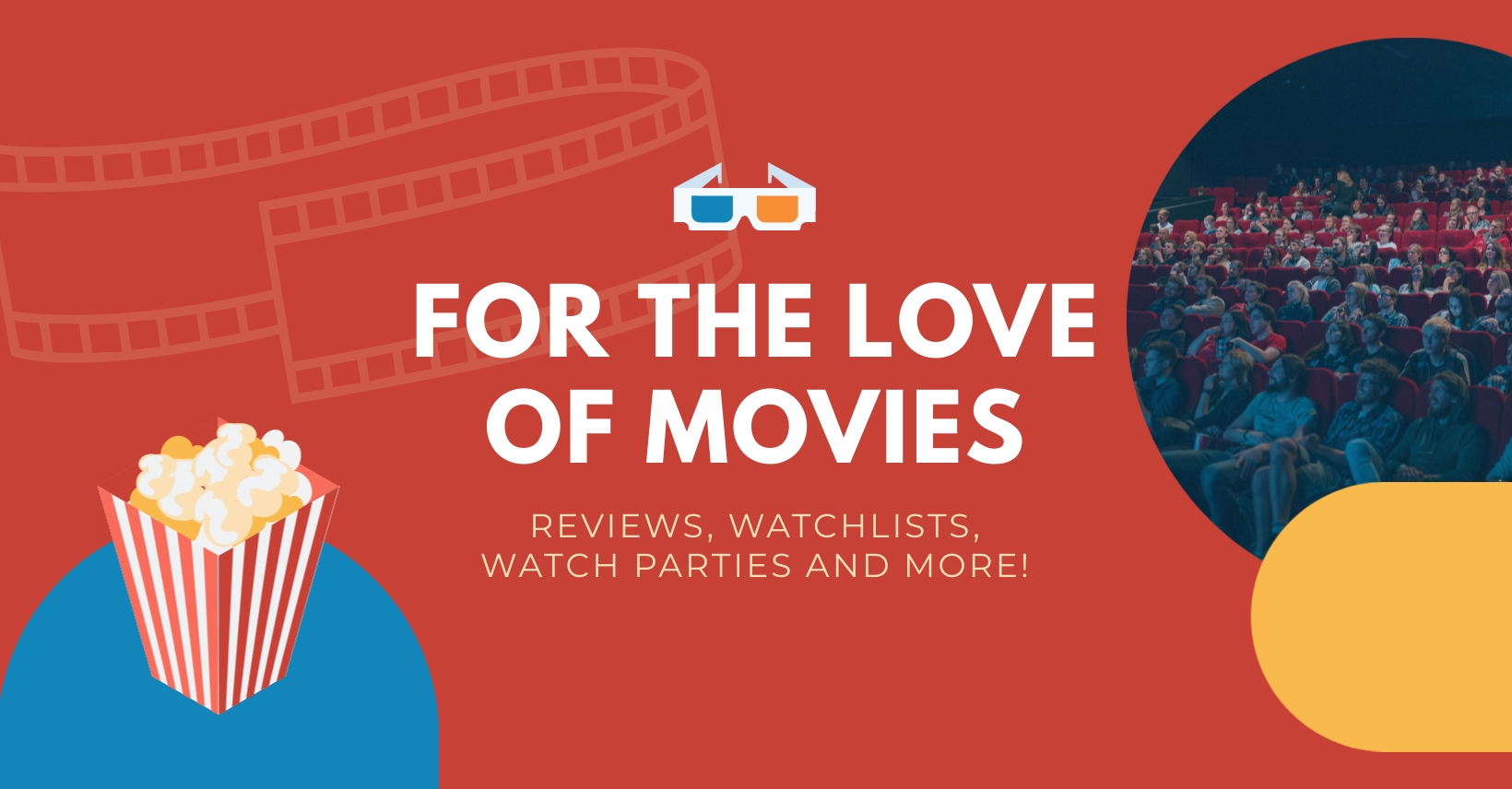 Movie Lovers Facebook Group Cover Template