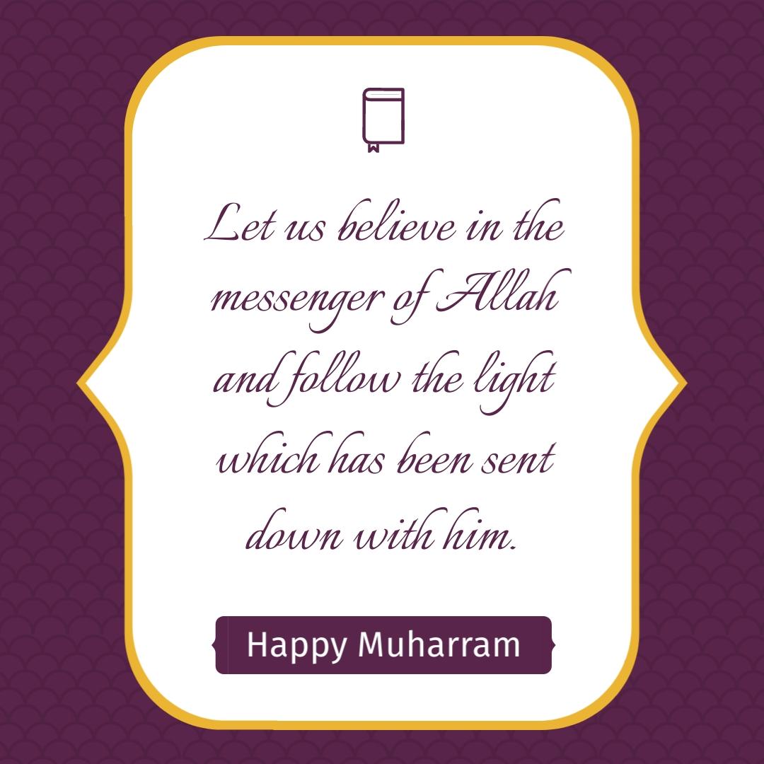 Muharram Quote - Instagram Post Template