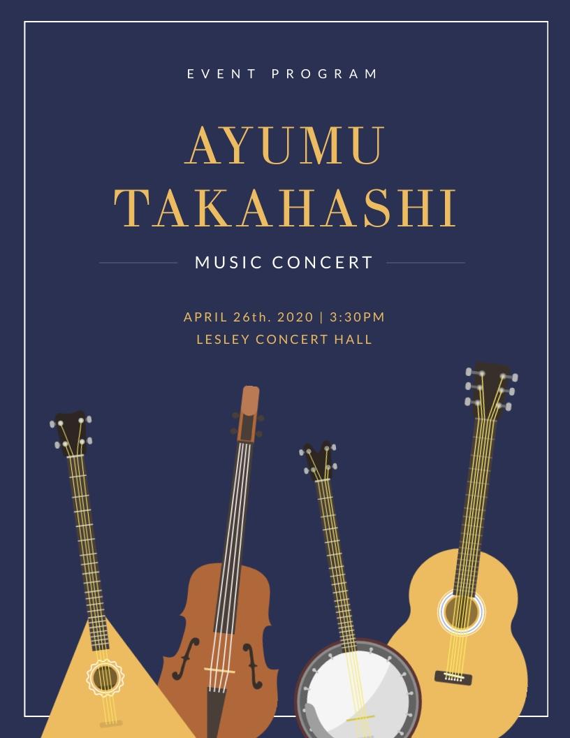 Music Concert - Event Program Template