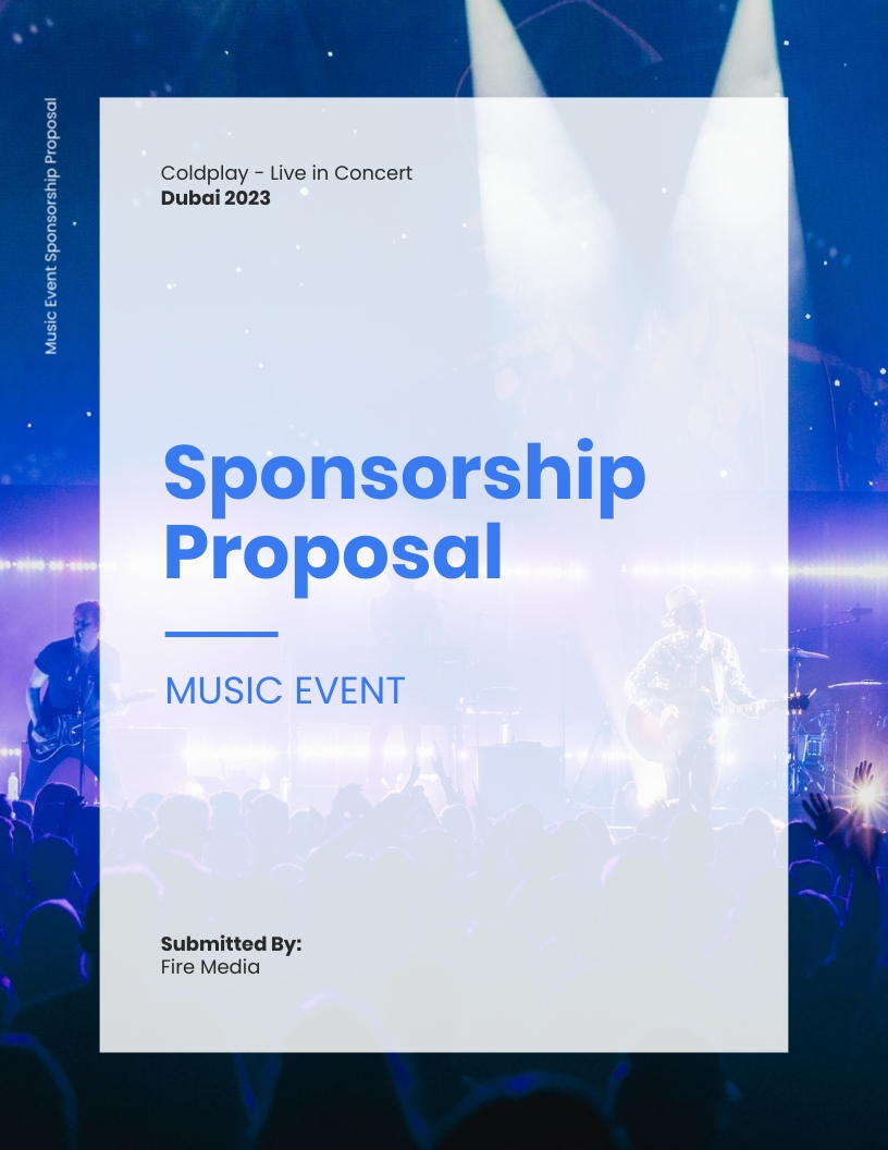 Music Event Sponsorship - Proposal Template
