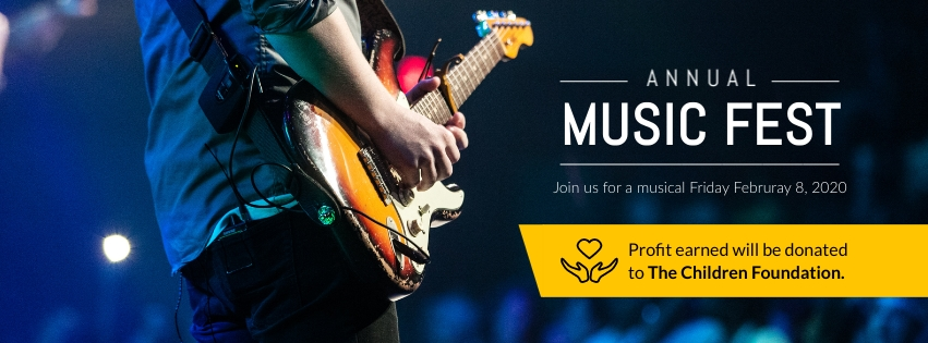 Music Fest Facebook Cover  Template