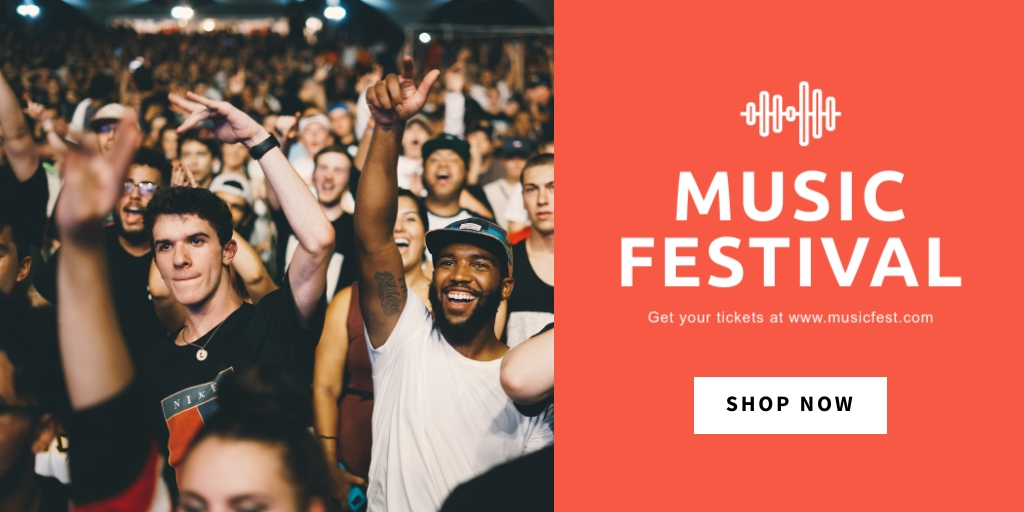 Music Festival - Twitter Ad Template