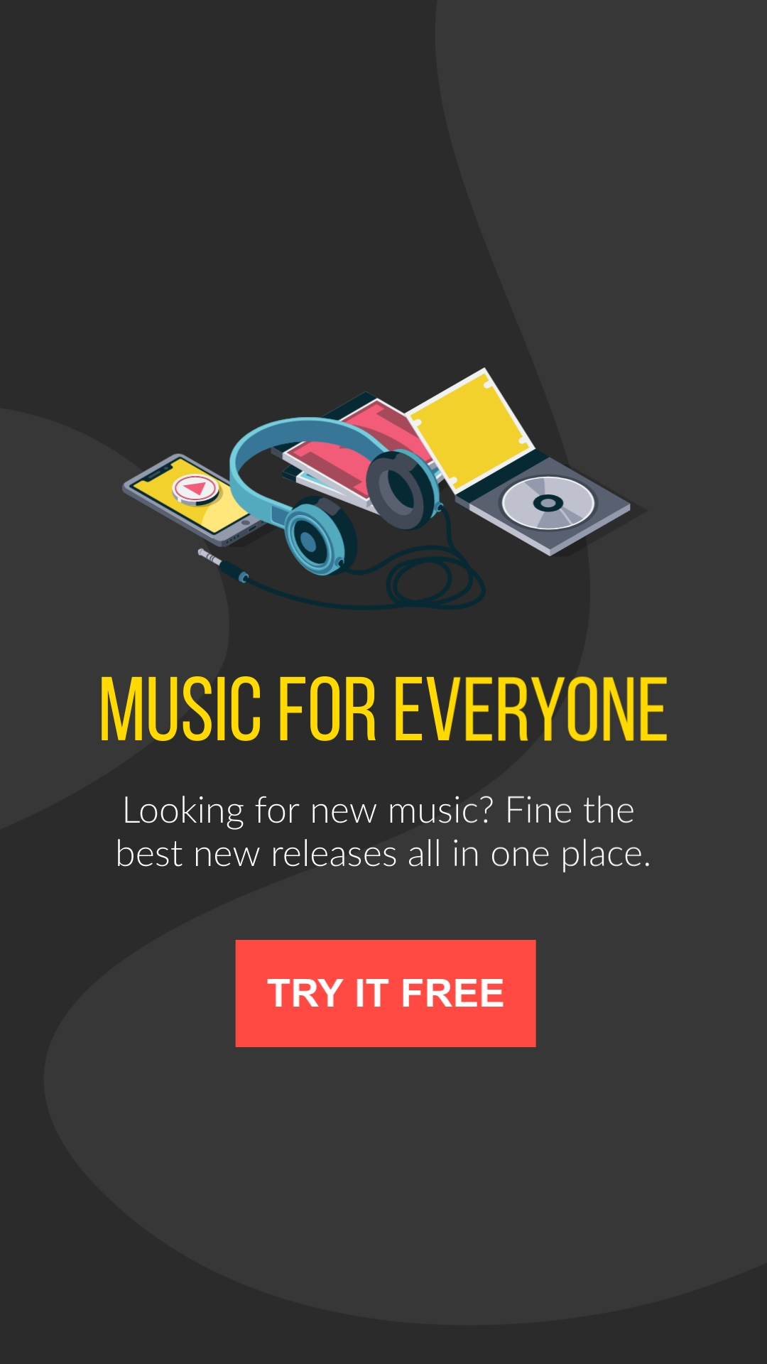 Music For Everyone Vertical Template