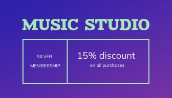 Music Store Loyalty Card Template
