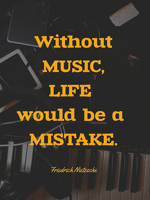 Music Quote Poster  Template