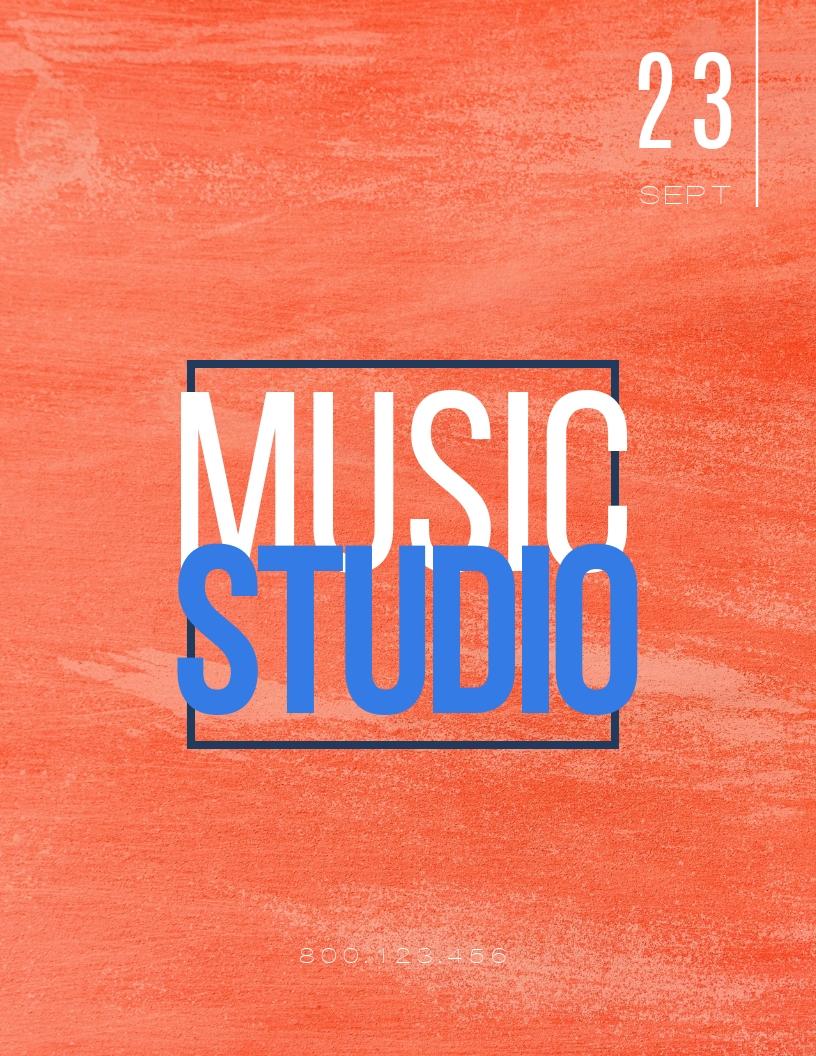 Music Studio - Flyer Template
