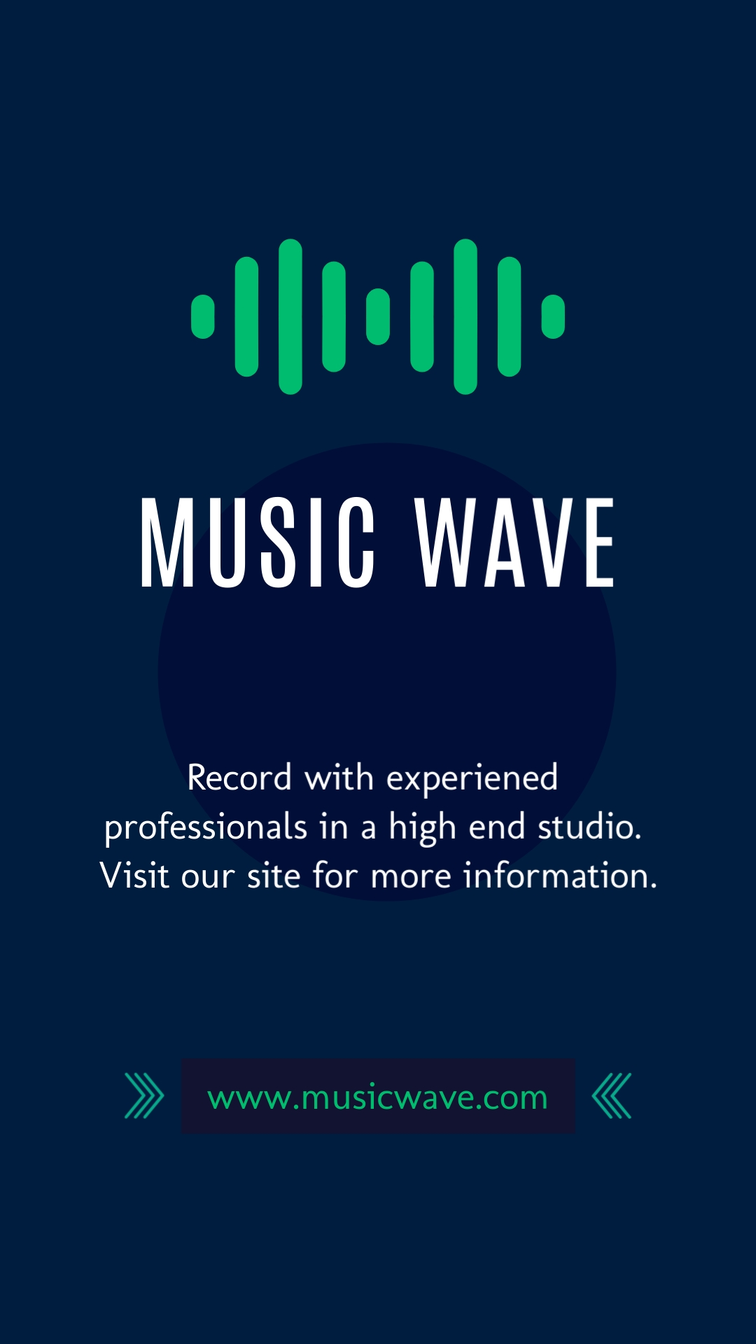 Music Wave Vertical Template