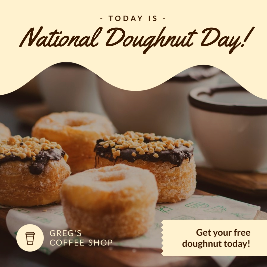 National Donut Day Giveaway - Instagram Post Template
