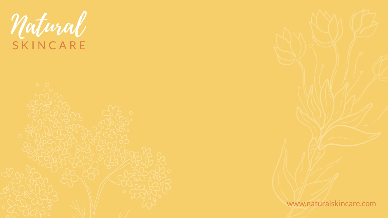 Natural Skincare - Zoom Background Template