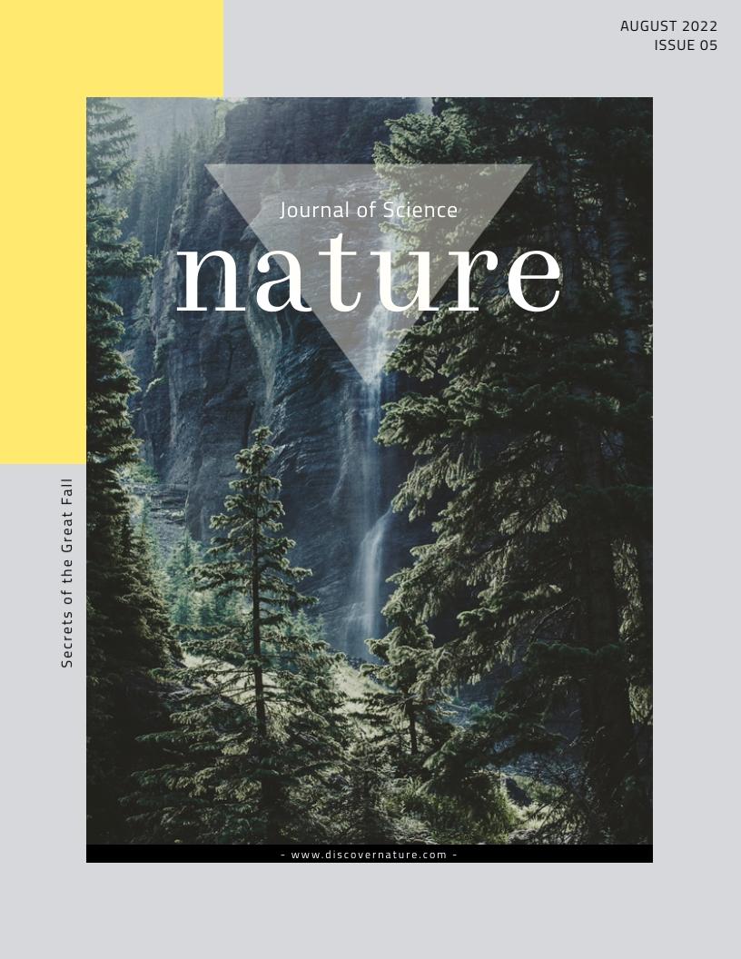 Nature - Magazine Cover Template