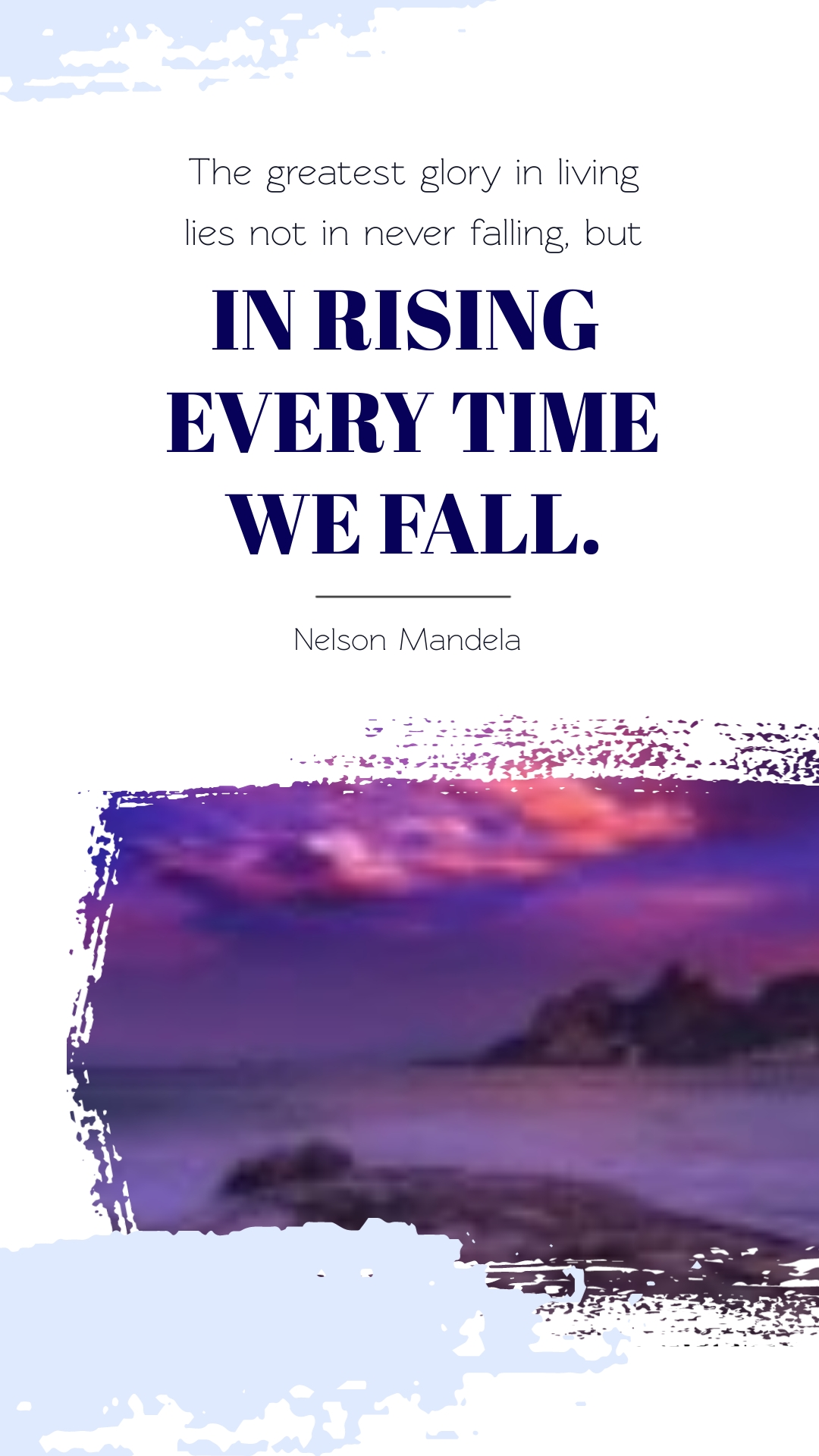Nelson Mandela Animated Quote Vertical Template