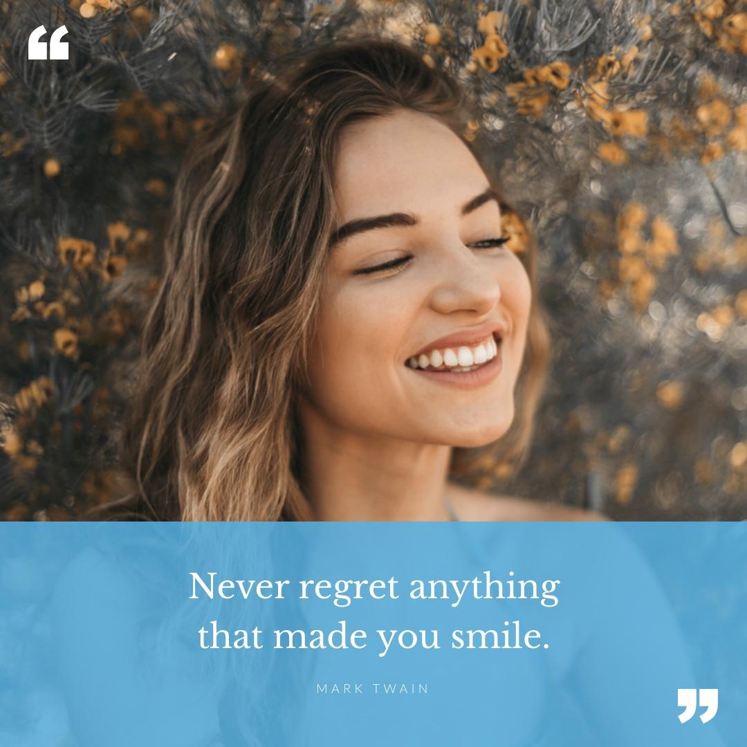 Never Regret Quote Blog Graphic Medium Template