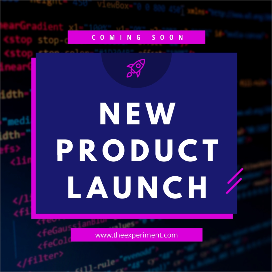 New Product Launch Code Animated Square Template