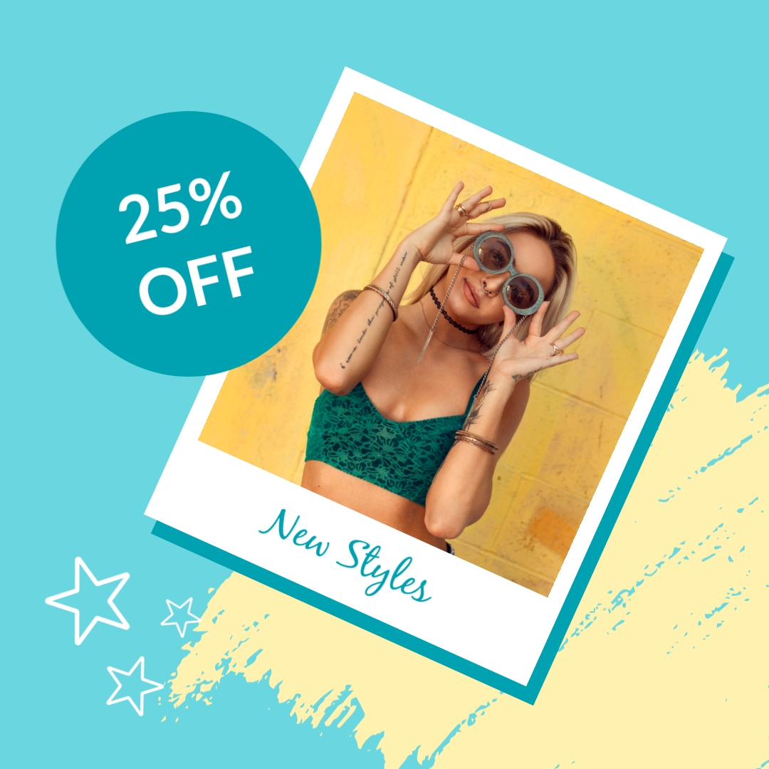 New Sunglasses Styles Animated Square Template