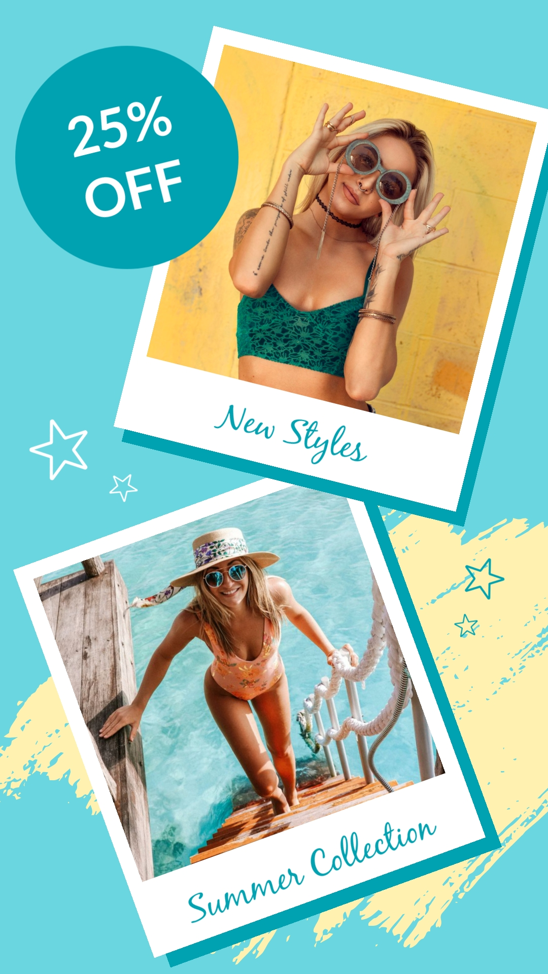 New Sunglasses Styles Animated Vertical Template