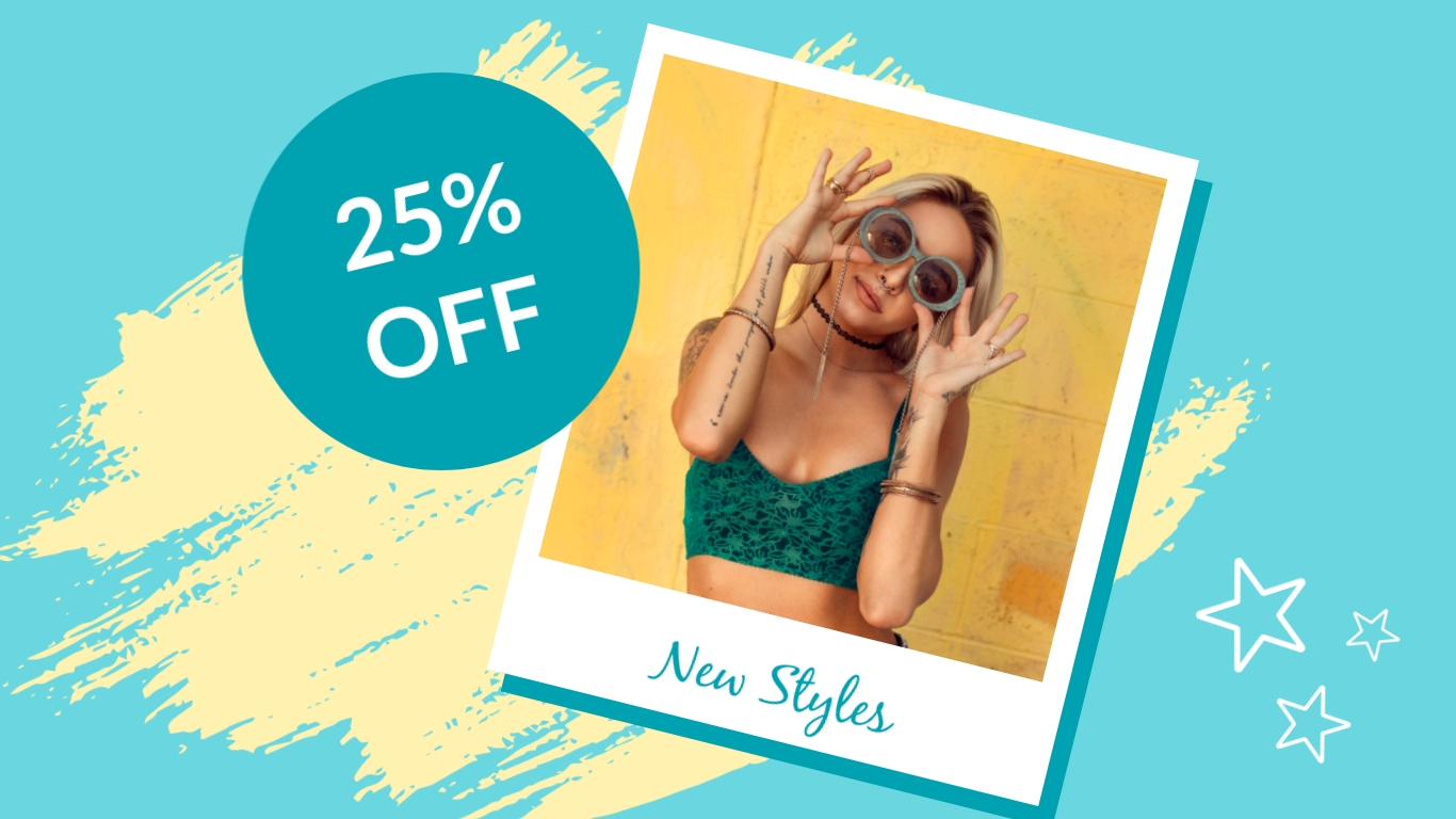 New Sunglasses Style - Twitter Ad Template