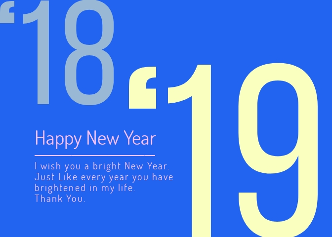 New Year Greeting Card Template