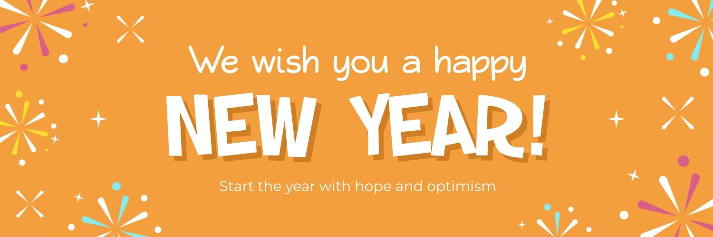 New Year Wish Twitter Header Template