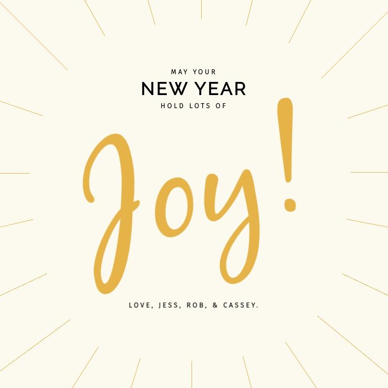 New Years Joy Blog Graphic Medium  Template