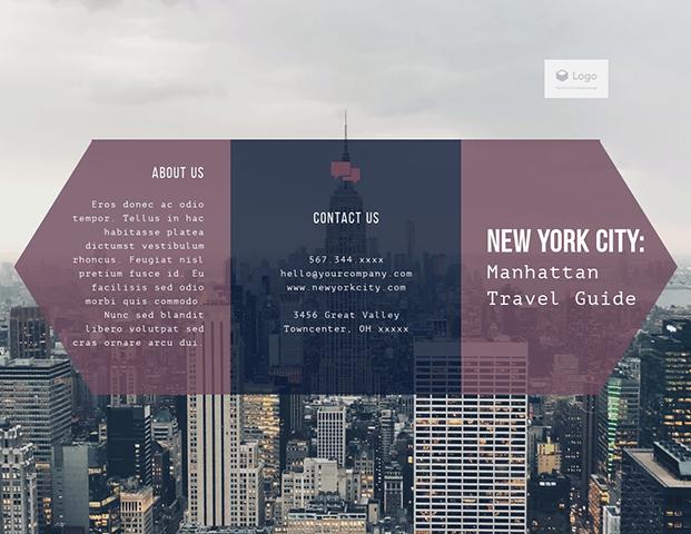 New York City Manhattan Travel Guide - Trifold Brochure Template