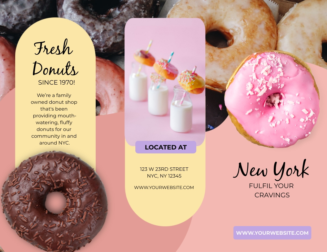 New York Donuts - Trifold Brochure Template
