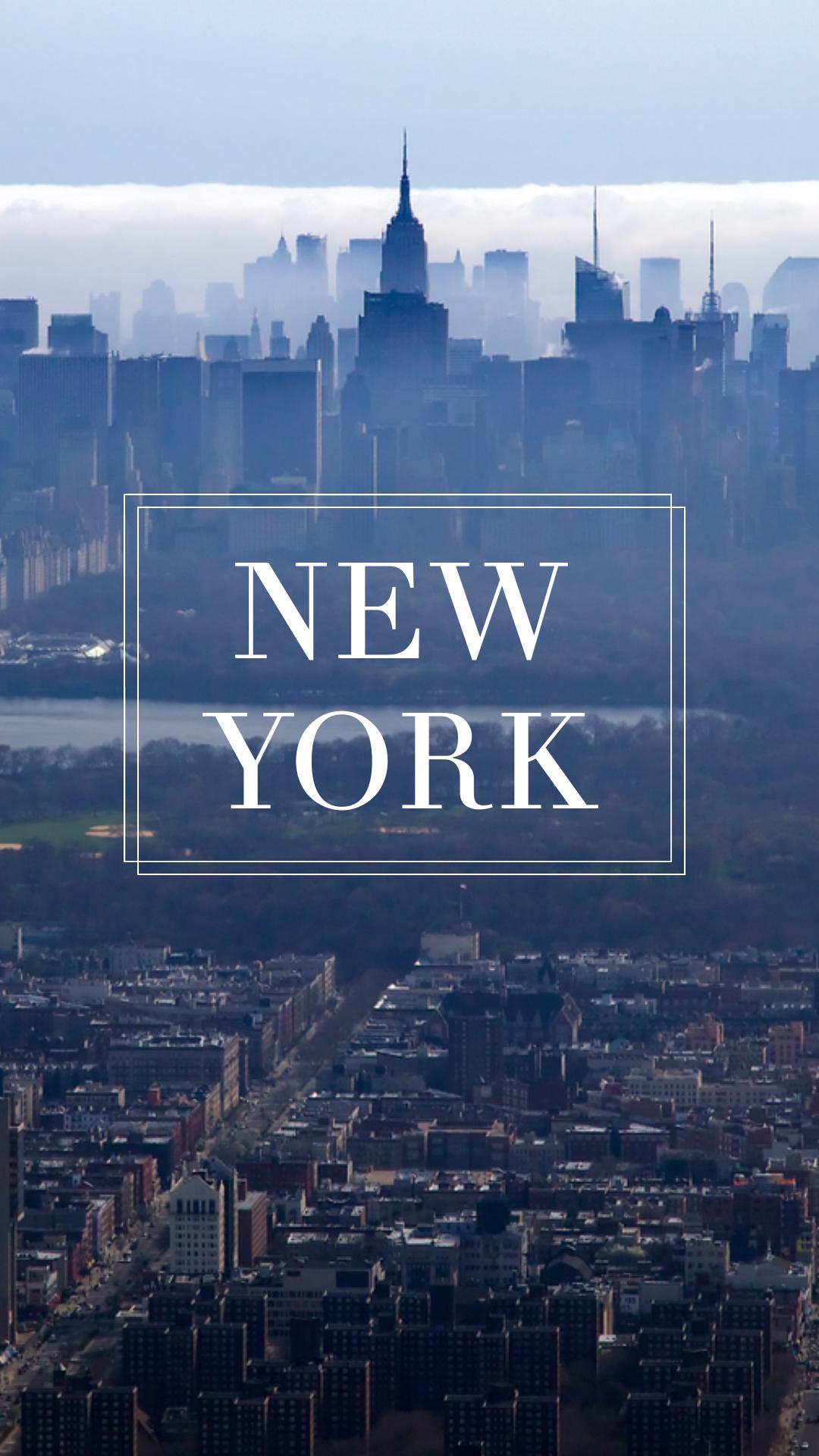 New York Phone Wallpaper Template