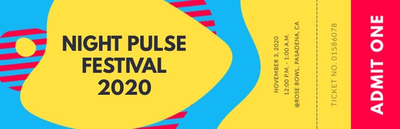 Night Pulse Festival Ticket Template