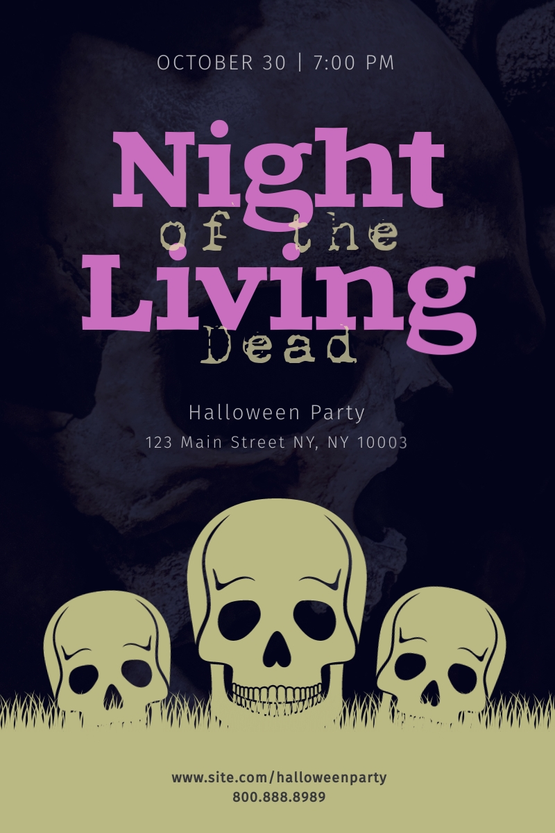Night of the Living Dead Blog Graphic Large Template
