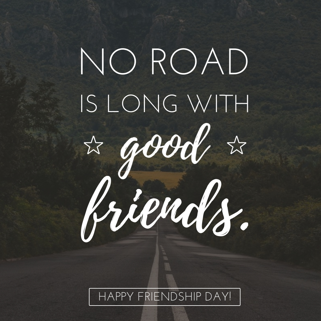 No Road Is Long - Instagram Post Template