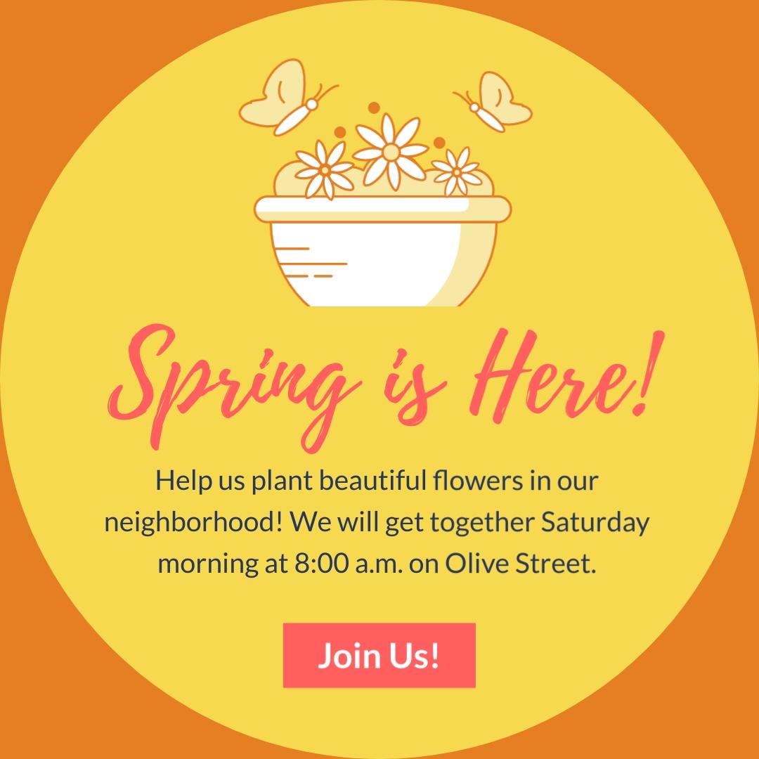 Nonprofit Flower Planting - Instagram Post Template