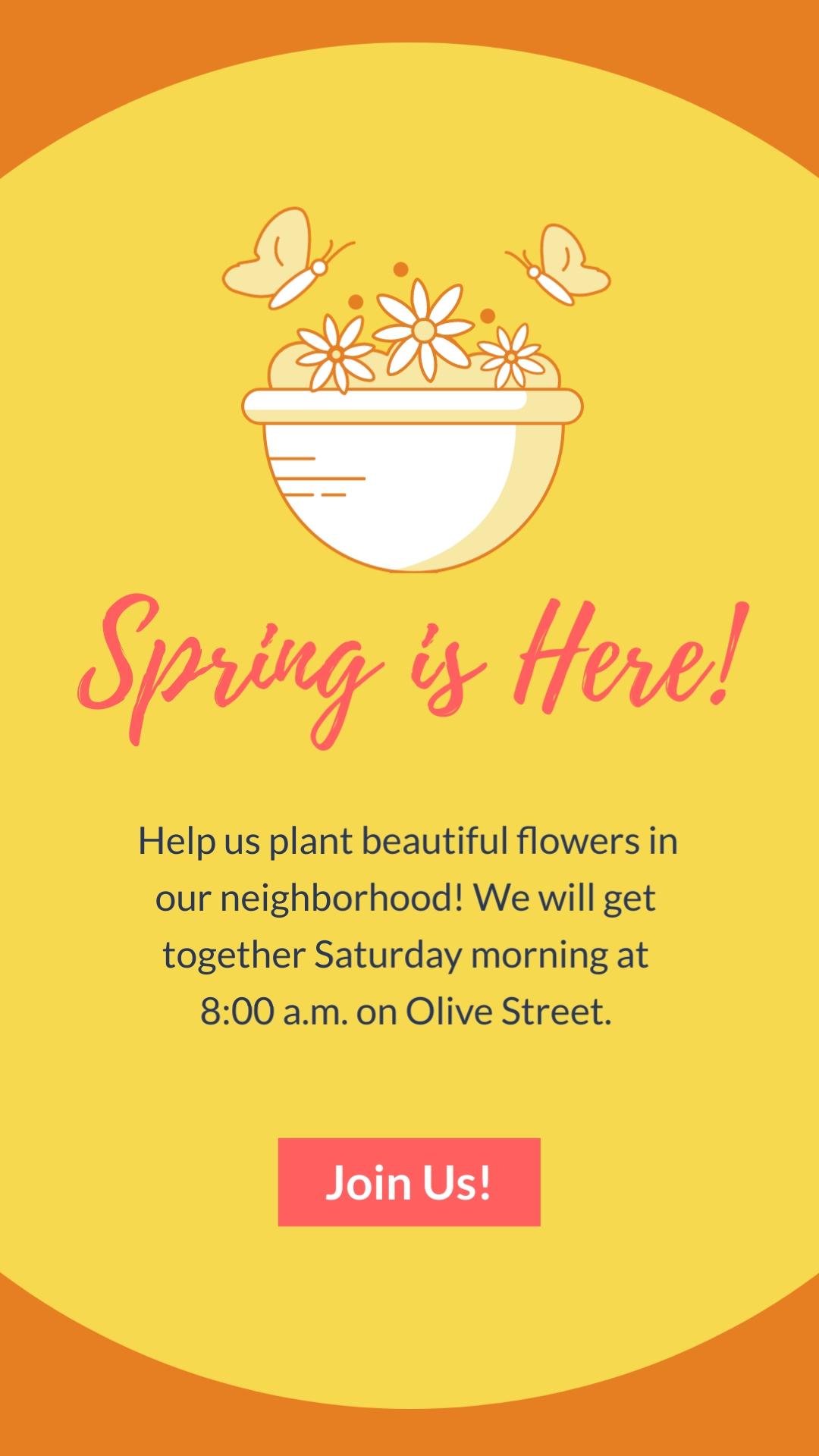 Nonprofit Flower Planting Vertical Template
