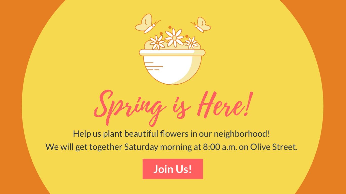 Nonprofit Flower Planting - Facebook Ad Template