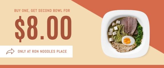 Noodles Soup - Coupon Template