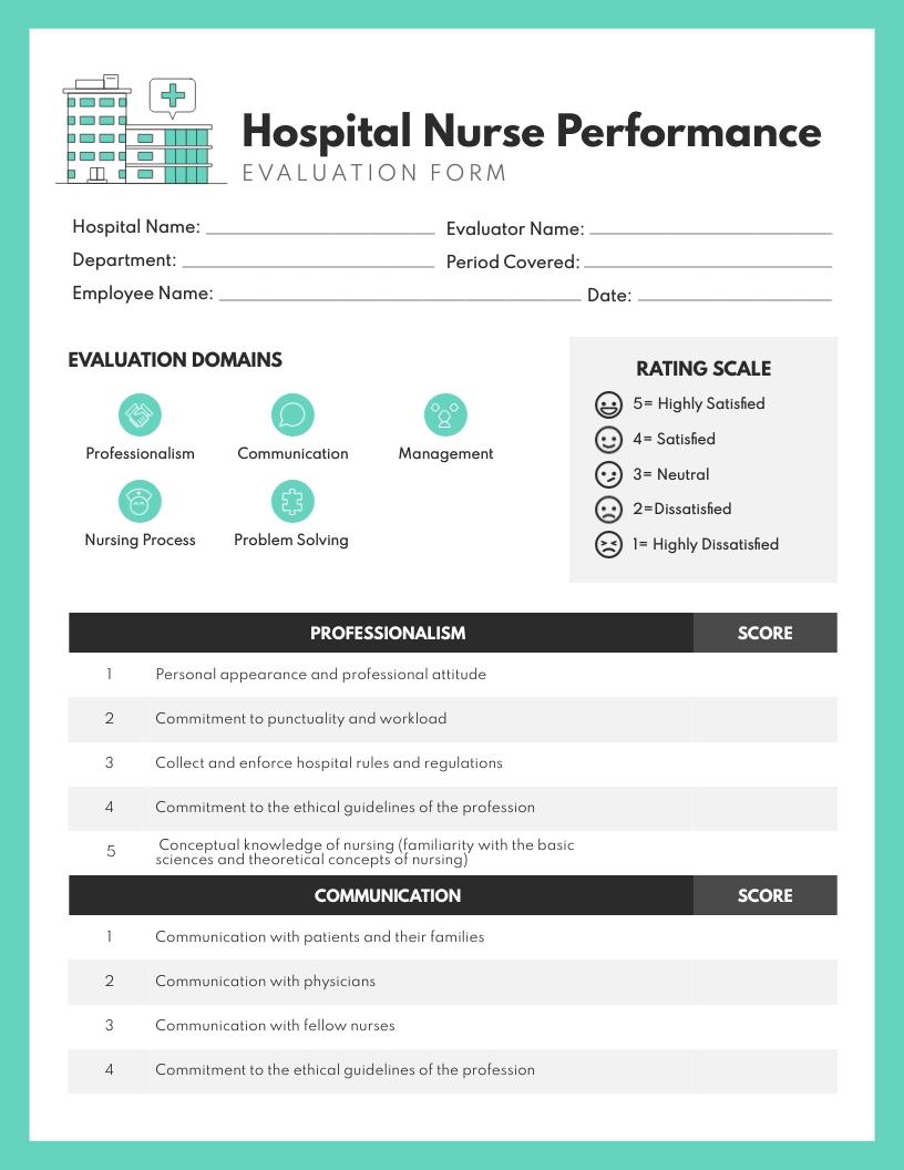 Nurse Performance Review Template