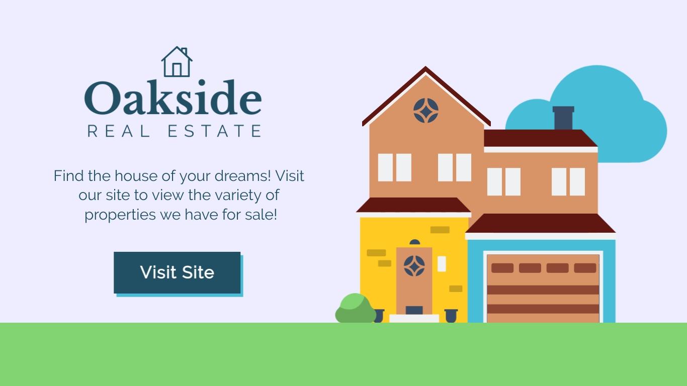 Oak side Real Estate - Twitter Ad Template